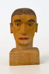 wood carved head