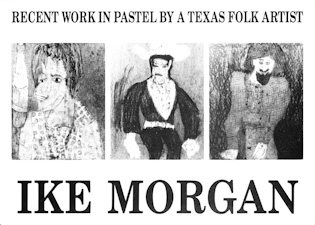 ike morgan show postcard card
